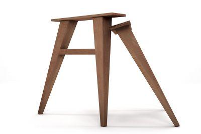Tischbeine aus Holz 2er Set Buche nach Maß gefertigt.