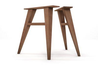 Tischbeine aus Holz 2er Set Buche nach Maß konisch zulaufend gefertigt.