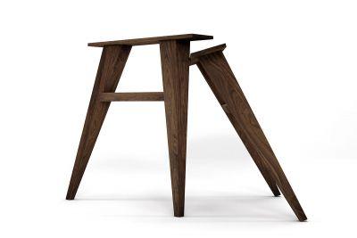 Massivholz Tischbeine aus Nussbaum, konisch nach deinem Maß gefertigt.