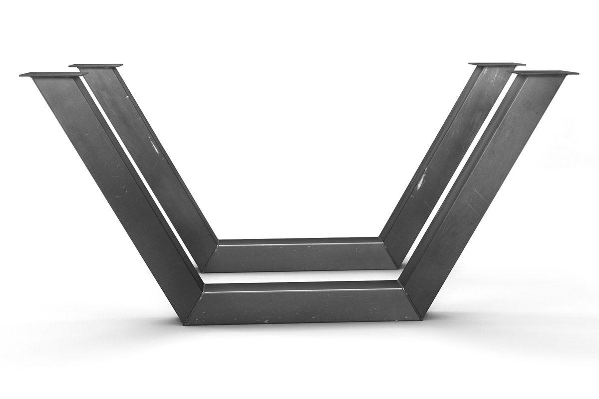 tischuntergestell stahl nach ma holzpiloten. Black Bedroom Furniture Sets. Home Design Ideas