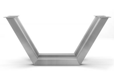 Tischkufen Edelstahl im modernen Design nach Maß in einer sehr modernen Optik gefertigt.