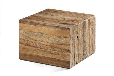 Couchtisch Würfel Holz massiv Teak