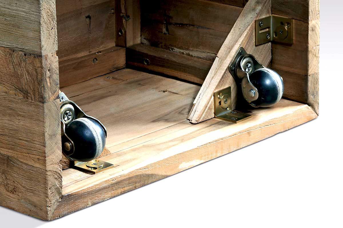 Couchtisch Würfel Holz Mit Rollen Teak Holzpiloten