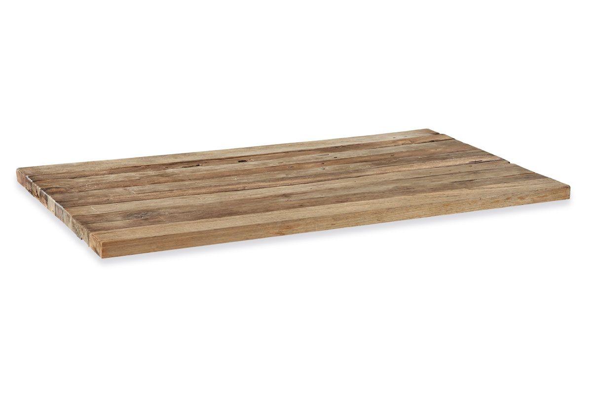 Tischplatte Teakholz 5cm massiv in vier Größen