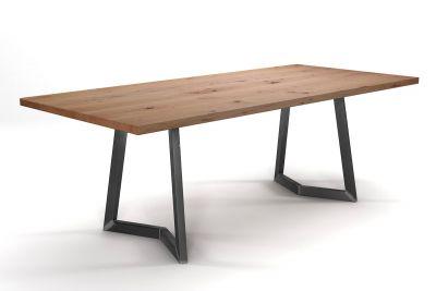 Massivholz Esstisch Buche nach deinem Maß gefertigt mit Kufen aus Stahl
