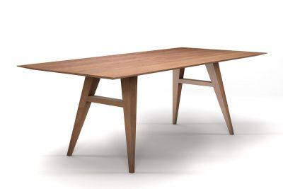 Massivholz Esstisch mit Schweizer Kante aus Buche astfrei nach Maß