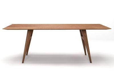 Eiche Esstisch mit Schweizer Kante Eiche astfrei Massivholz nach deinem Maß gefertigt.