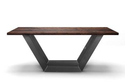 Holztisch massiv Eiche Industrial mit Kufen aus Stahl nach deinem Maß