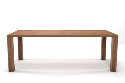 Esstisch Eiche massiv nach Maß in astfreier Qualität mit Holz Tischbeinen gefertigt.