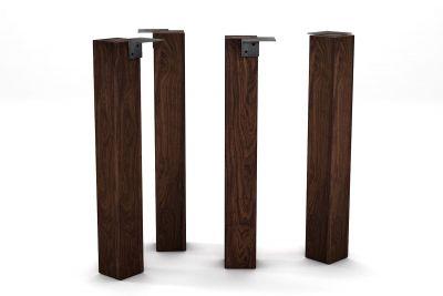 Tischbein massiv aus Nussbaum nach deinem Maß auf Gehrung gefertigt.