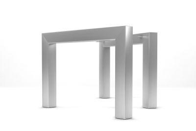 Edelstahl Gestell auf Maß im 2er Set, verschiedene Einlegetiefen stehen zur Auswahl.