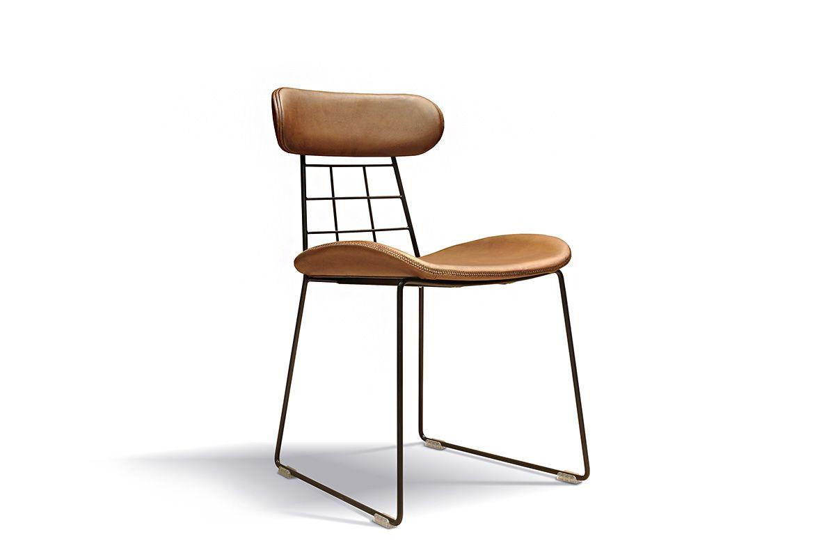 Minimal Design Stuhl Leder