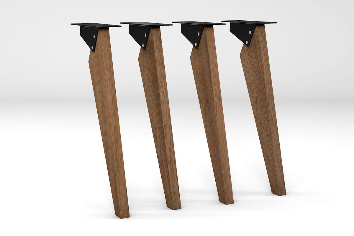 tischbeine modern eiche massiv nach ma holzpiloten. Black Bedroom Furniture Sets. Home Design Ideas