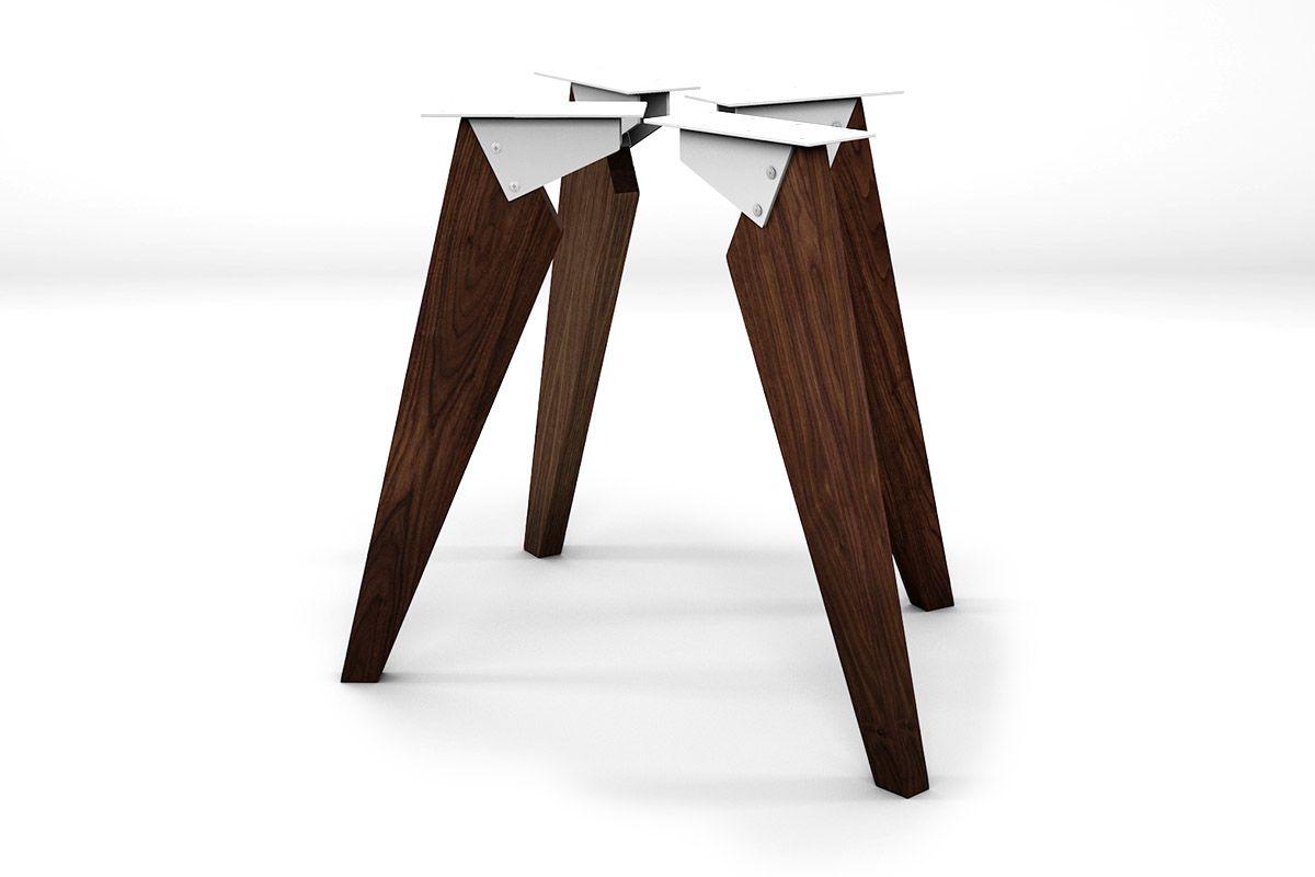 Massivholz Tischbeine Nussbaum im 4er Set nach deinem Maß gefertigt.