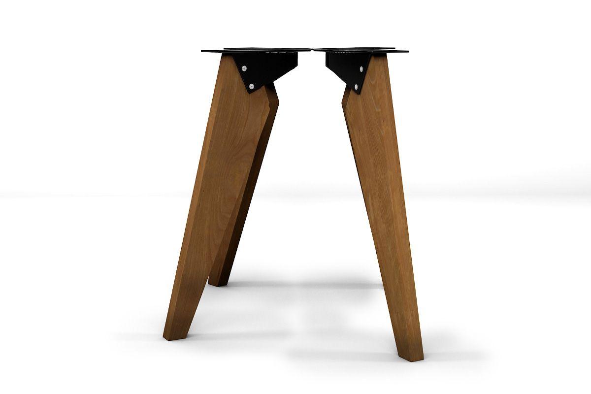 Tischbeine Buche massiv nach Maß im 4er Set gefertigt, Stahlwinkel in verschiedenen Farben.
