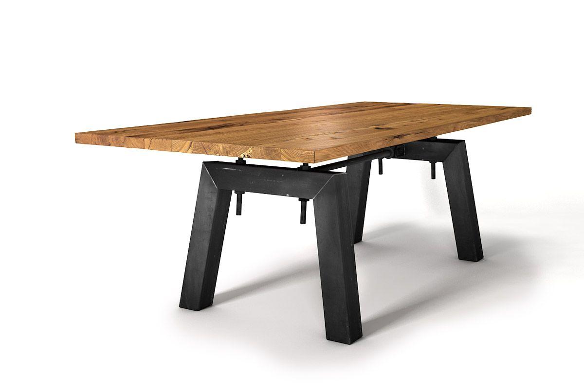 Altholz Tisch Eiche 4cm nach Maß in verschiedenen Oberflächen auswählbar.