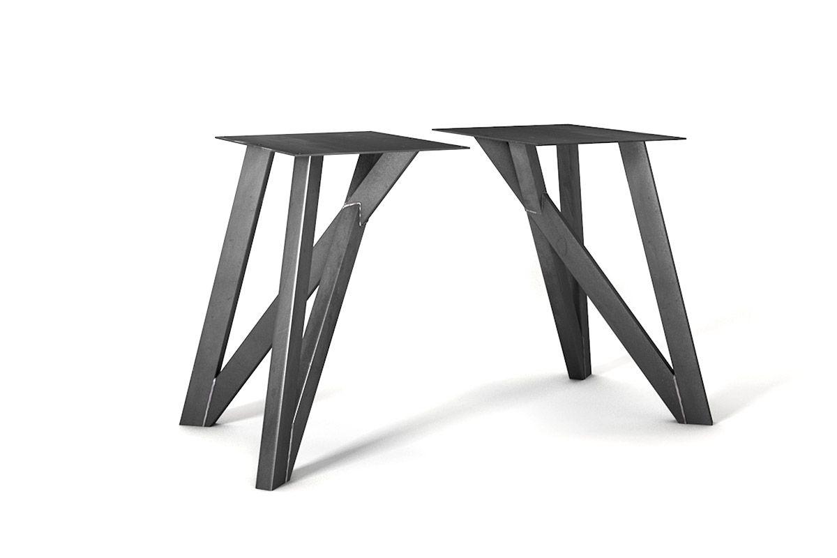 Esstisch Gestell aus Stahl nach Maß in moderner Optik gefertigt.