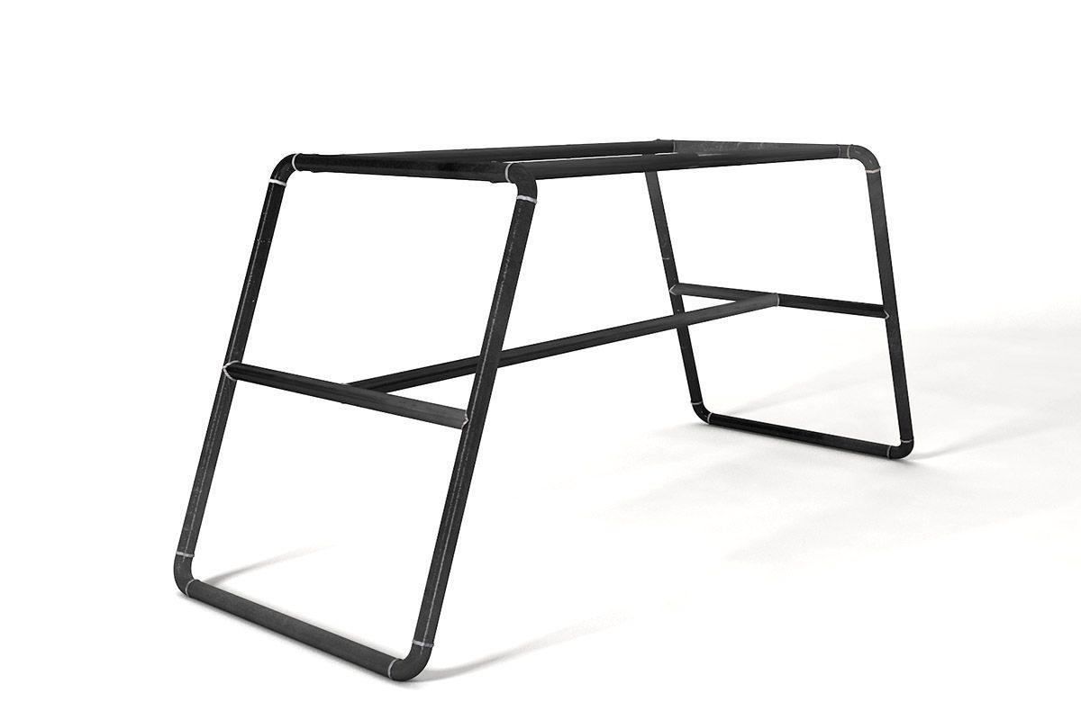 Tischuntergestell aus Stahlrohr nach deinem Maß gefertigt.