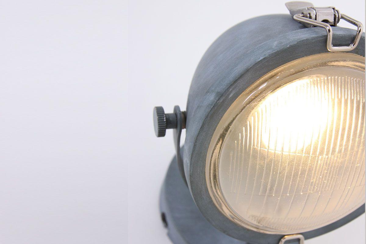 Metall Wandlampe Industrial Grau