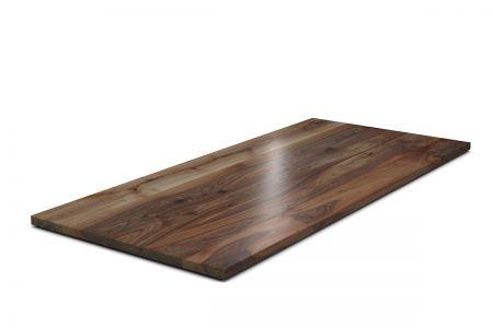 Tischplatte nach Maß europäischer Nussbaum 4cm vollmassiv gefertigt.