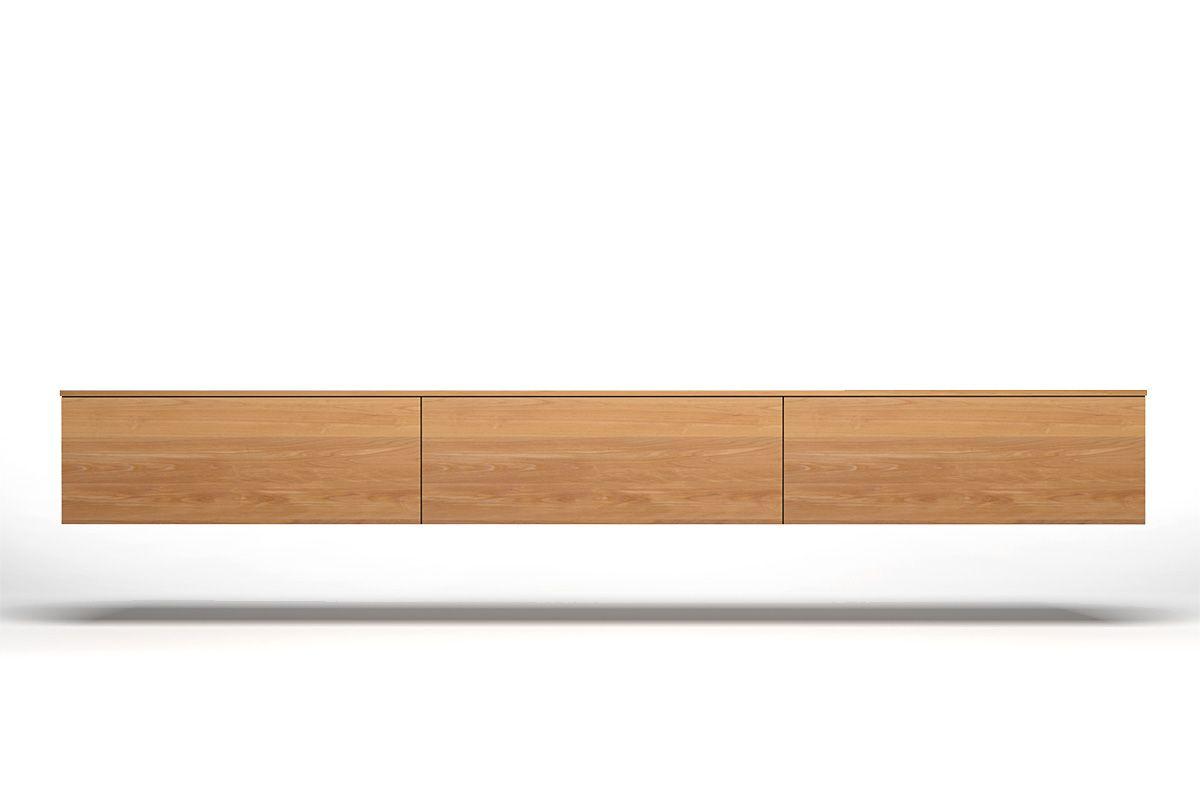 Lowboard Holz Hängend Buche Nach Maß Holzpiloten