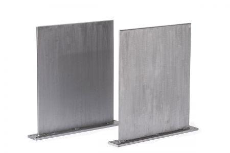 Tischwangen Stahl massiv 2er Set nach Maß FDX26