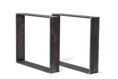 Tischkufen Stahl 15x1,5cm nach Maß 2er Set UAL906