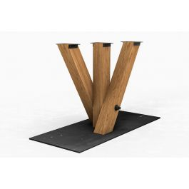 tisch mittelfu gestell aus eiche nach ma holzpiloten. Black Bedroom Furniture Sets. Home Design Ideas