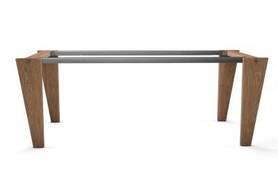 Tischgestell selbsttragend aus Holz massiv auf Maß bestellbar