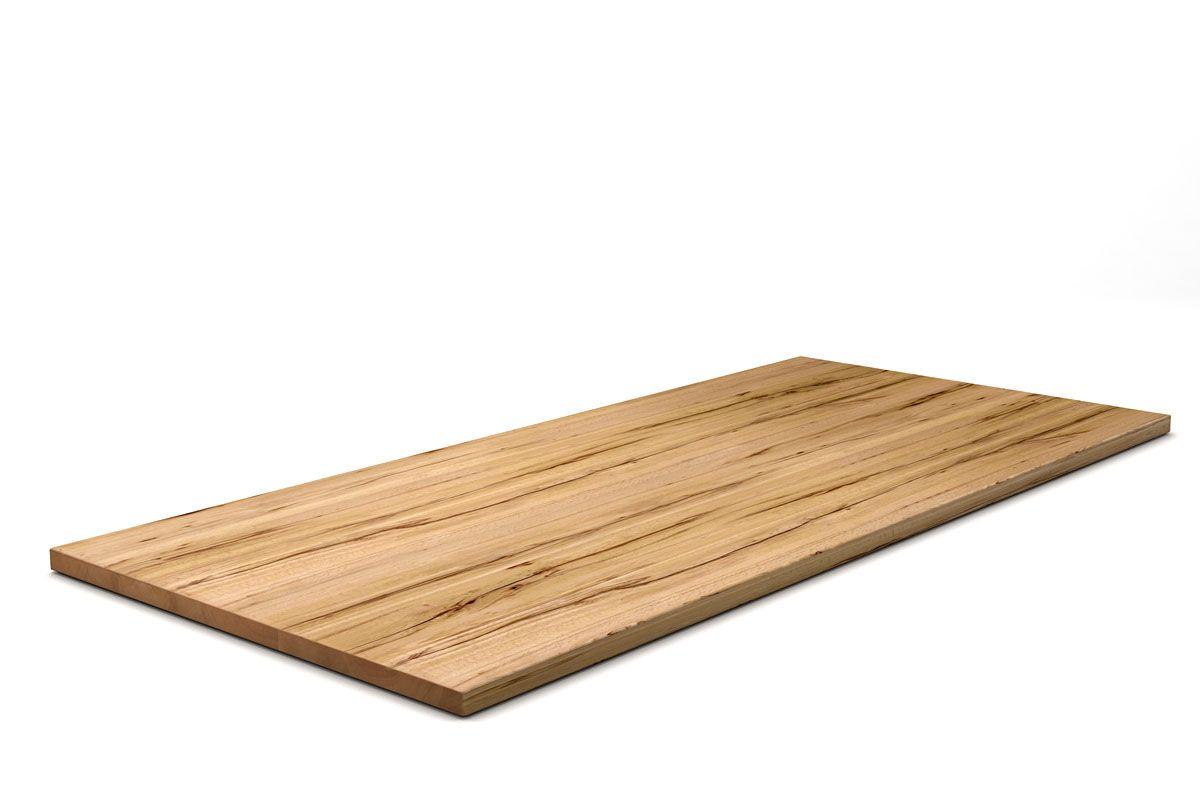 Kernbuche Tischplatte aus Massivholz 4cm nach deinem Maß gefertigt