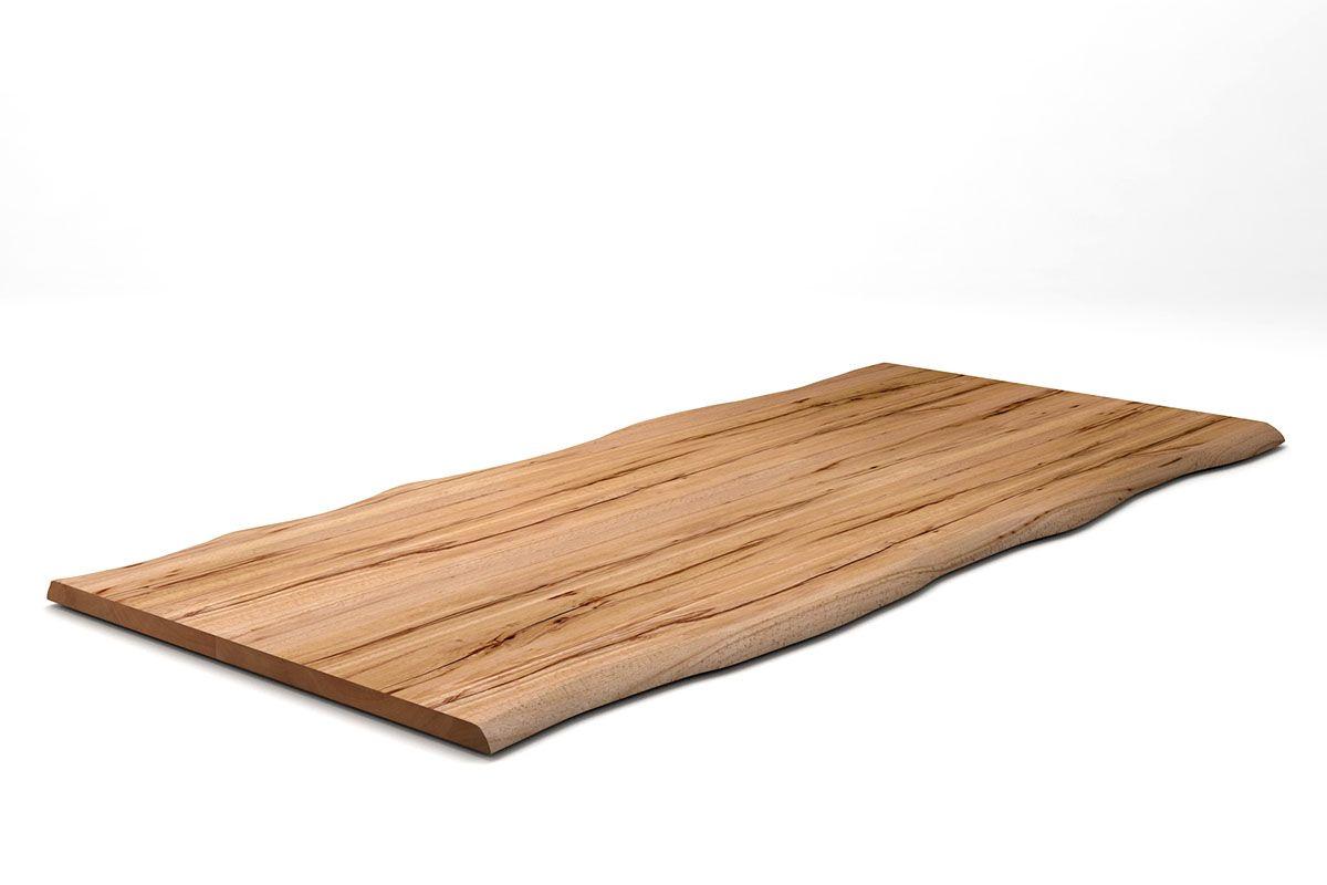 Kernbuche Tischplatte mit Baumkanten nach deinem Maß in 4cm Stärke gefertigt