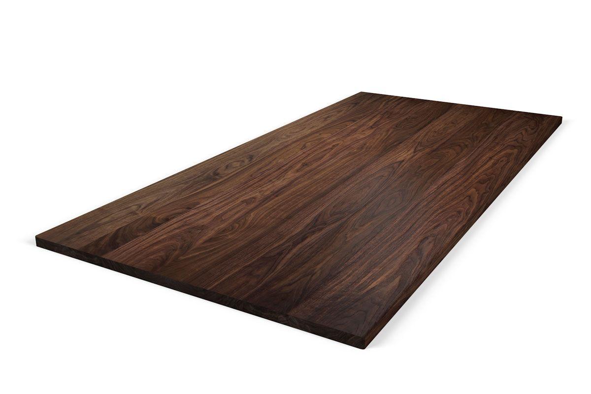 Nussbaum Tischplatte massiv nach Maß astfrei