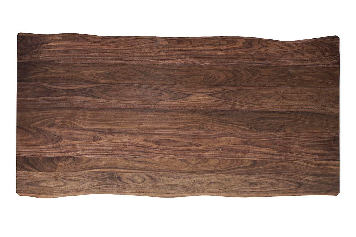 baumkanten tischplatte nussbaum massiv nach ma 4cm astfrei. Black Bedroom Furniture Sets. Home Design Ideas