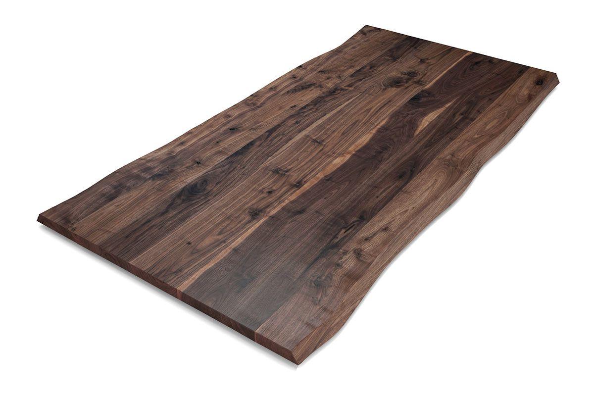 Baumkanten Tischplatte Nussbaum nach Maß