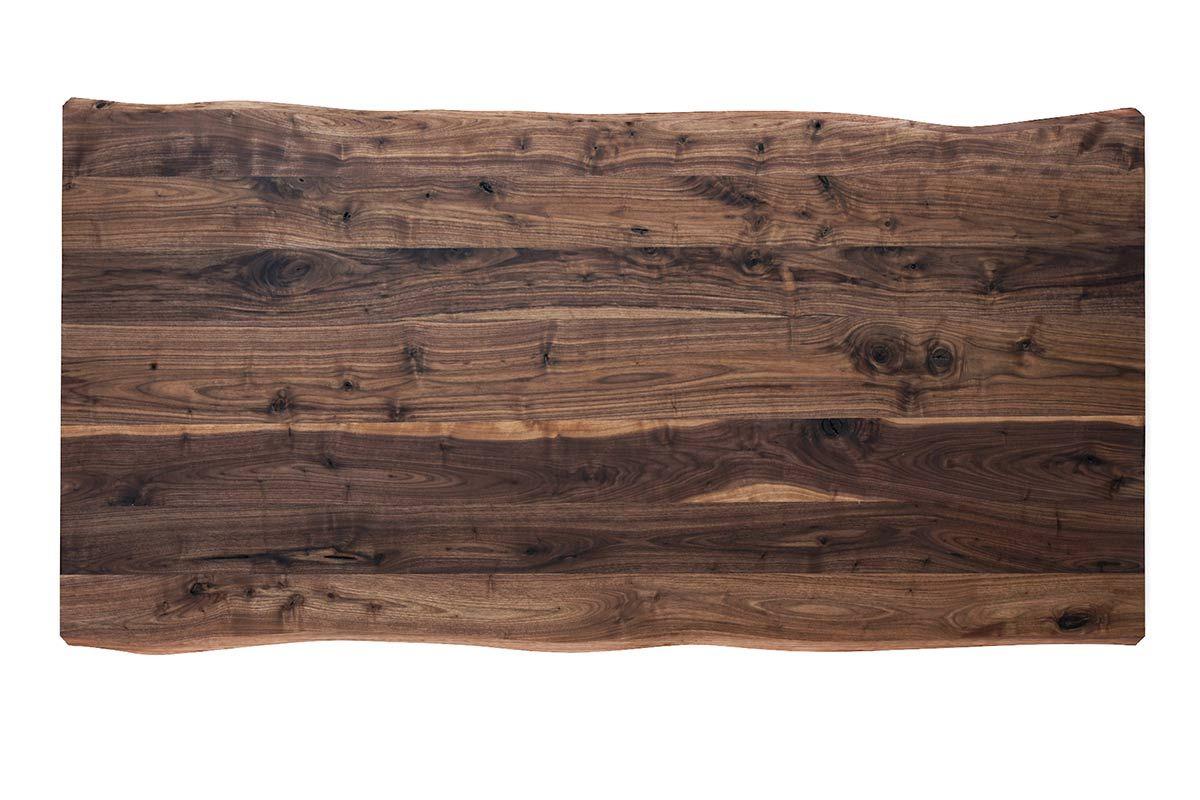 baumkanten tischplatte nussbaum 4cm massiv nach ma. Black Bedroom Furniture Sets. Home Design Ideas
