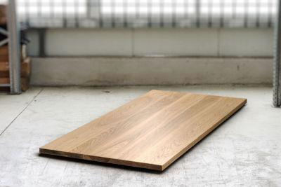Eiche Tischplatte massiv nach Maß in 4cm Stärke gefertigt.