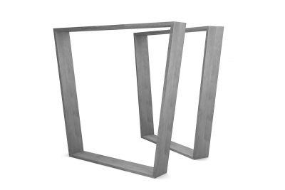 Stahlkufen Tischgestell nach Maß in konischer Form gefertigt