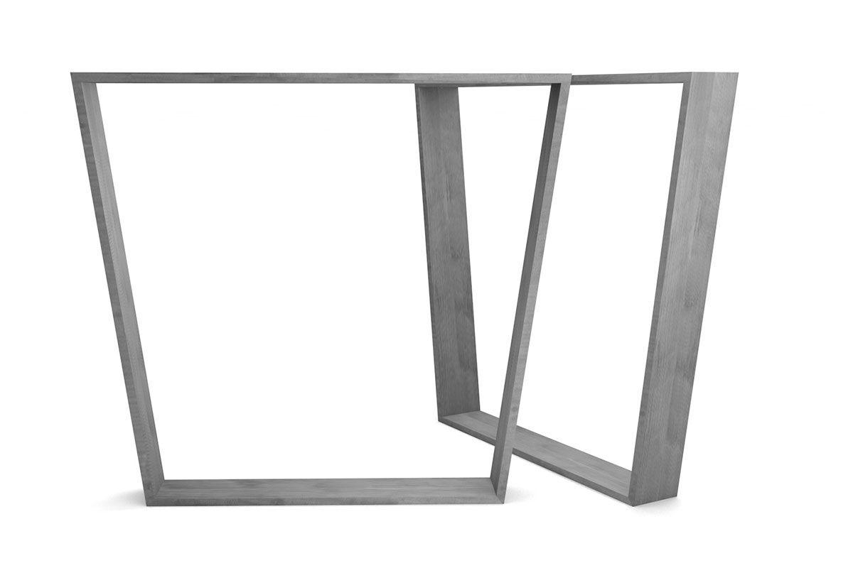 Tischgestell trapezform Stahl 2er Set in verschiedenen Oberflächenarten