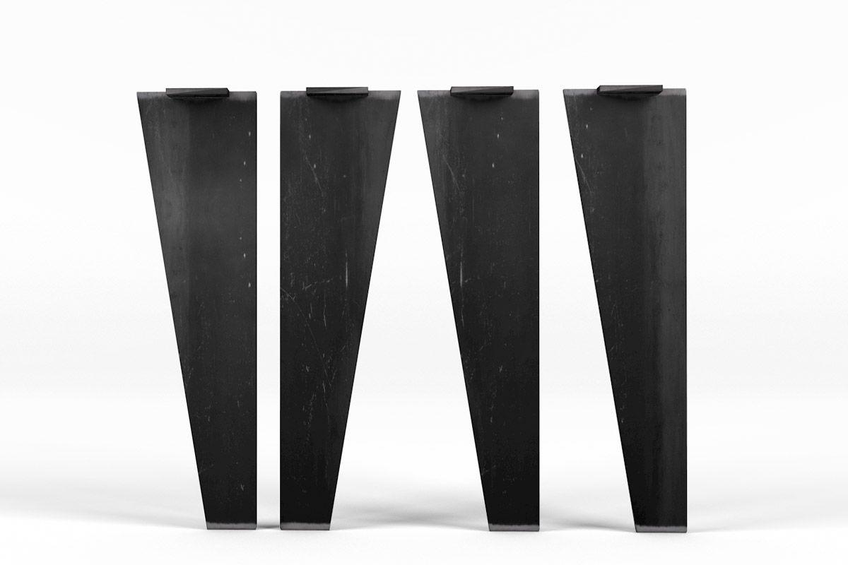Esstischbeine Stahl nach Maß gefertigt, in moderner Optik und vollmassivem Stahl