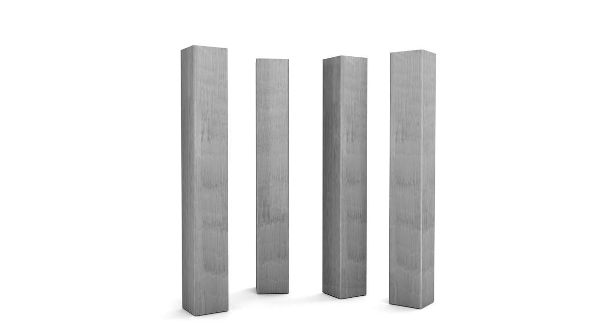 Stahl Tischbein in verschiedenen Profilstärken und in deiner Wunschhöhe