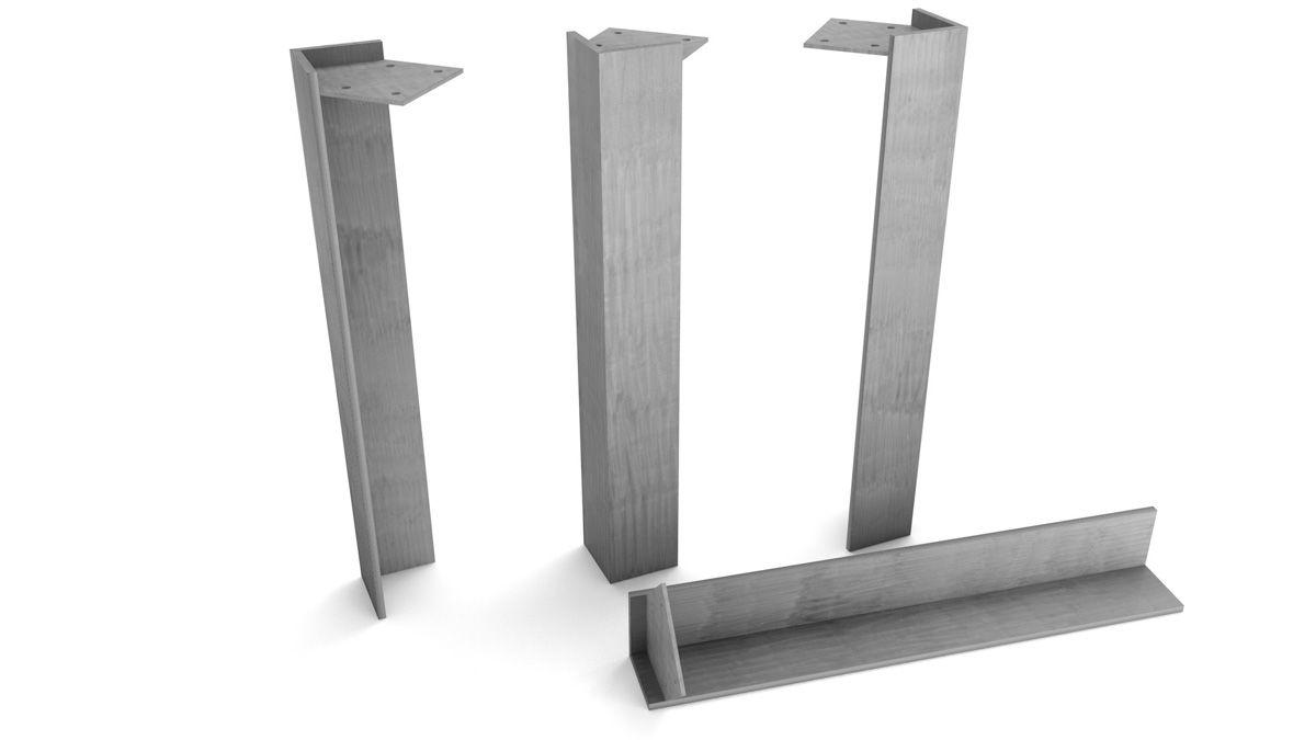 Tischbeine Metall in verschiedenen Oberflächen auswählbar