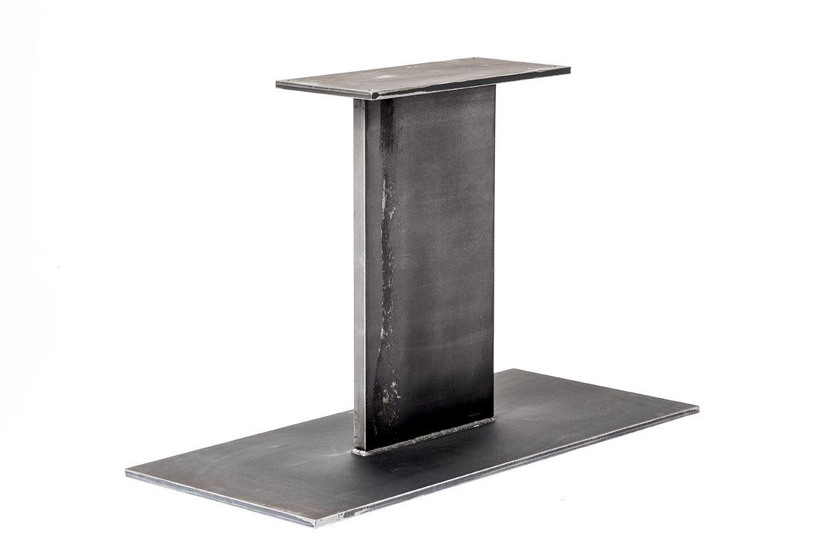 Stahl Mittelfuß aus massivem Stahl gefertigt, in verschiedenen Oberflächen erhältlich