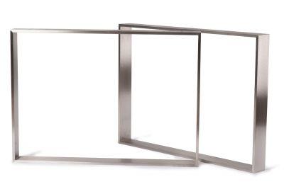 Flachband Tischkufen aus Stahl nach Maß, in verschiedenen Stahlarten auswählbar