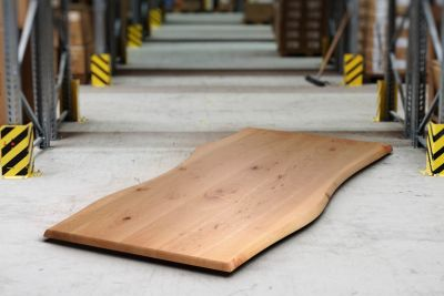 Buche Tischplatte in massiver und astfreier Ausführung
