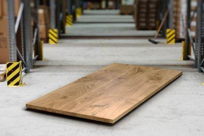 Massive Eiche Tischplatte mit Astanteil 4cm stark nach Maß gefertigt.