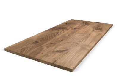 Eiche Tischplatte nach Maß in weitgehend astfreier Qualität