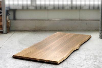 Baumkanten Eiche Tischplatte 4cm astfrei nach Maß gefertigt