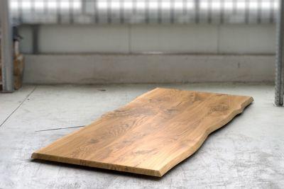 Tischplatte Eiche 4cm massiv mit Baumkanten nach Maß gefertigt
