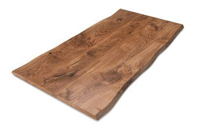 Massivholz Eiche Tischplatte mit Baumkanten nach deinem Maß