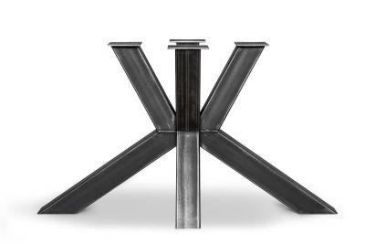 Tischgestell Kreuzfuß aus Stahl nach Maß gefertigt, Industriedesign pur